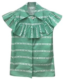 Miu Miu Button Down Shirt Green