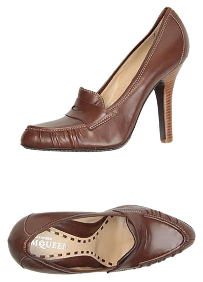 WOMENS Alexander McQueen Brown Moccassins reputation Pumps Long-term reputation Moccassins cdef02
