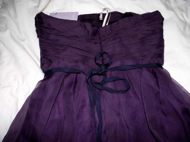 Vera Wang Lavender Label Fully Lined Pleated Silk Size 6 Mesh Dress Image 2