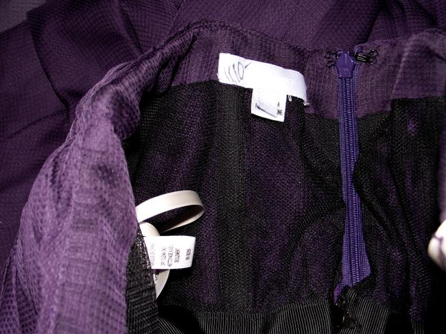 Vera Wang Lavender Label Fully Lined Pleated Silk Size 6 Mesh Dress Image 3