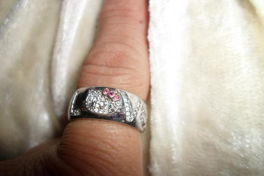 """Other SIZE """"9""""--STERLING SILVER 925 STAMPED HELLO KITTY W/FAUX DIAMOND"""