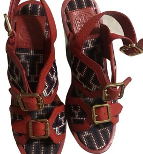 Tory Burch red and blue Sandals