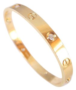 cartier Cartier 4 Diamond LOVE Bracelet Size 16