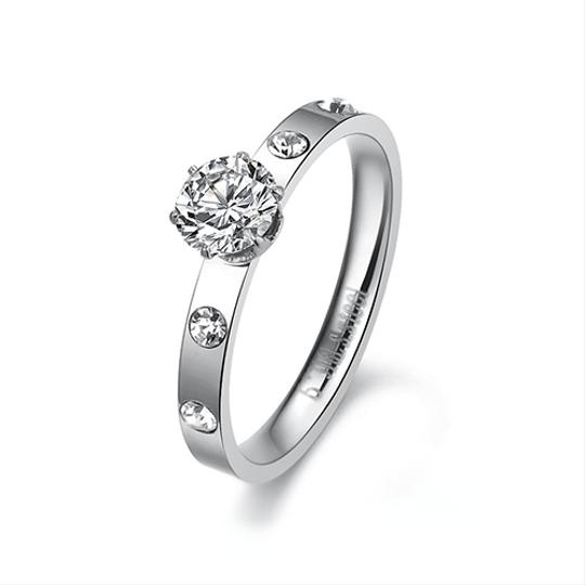 Other 1/2 Carat Round Simulated Diamond Ring Image 2
