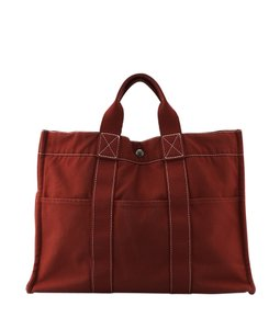 Hermes Canvas Tote in Red