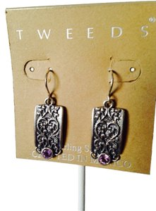 Other Tweeds Faceted Amethyst In Sterling Silver Earrings