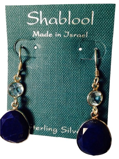 Preload https://img-static.tradesy.com/item/2161700/shablool-silver-jewelry-design-blue-s-faceted-lapis-and-blue-topaz-dangle-earrings-0-0-540-540.jpg