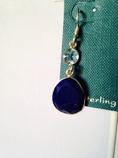 Shablool Silver Jewelry Design Shablool Faceted Lapis & Blue Topaz Dangle Earrings Image 2