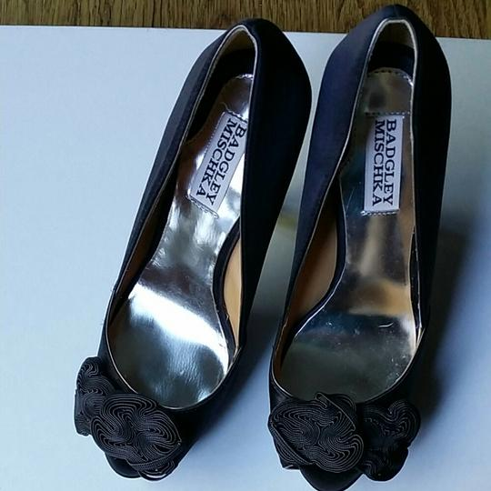 Badgley Mischka Black Platforms Image 1