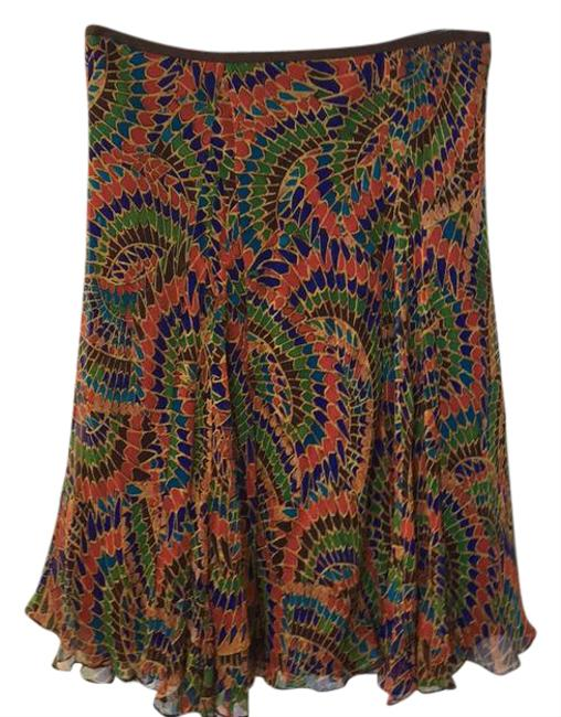 Item - Multi-color See Pic Silk Lined Skirt Size 6 (S, 28)
