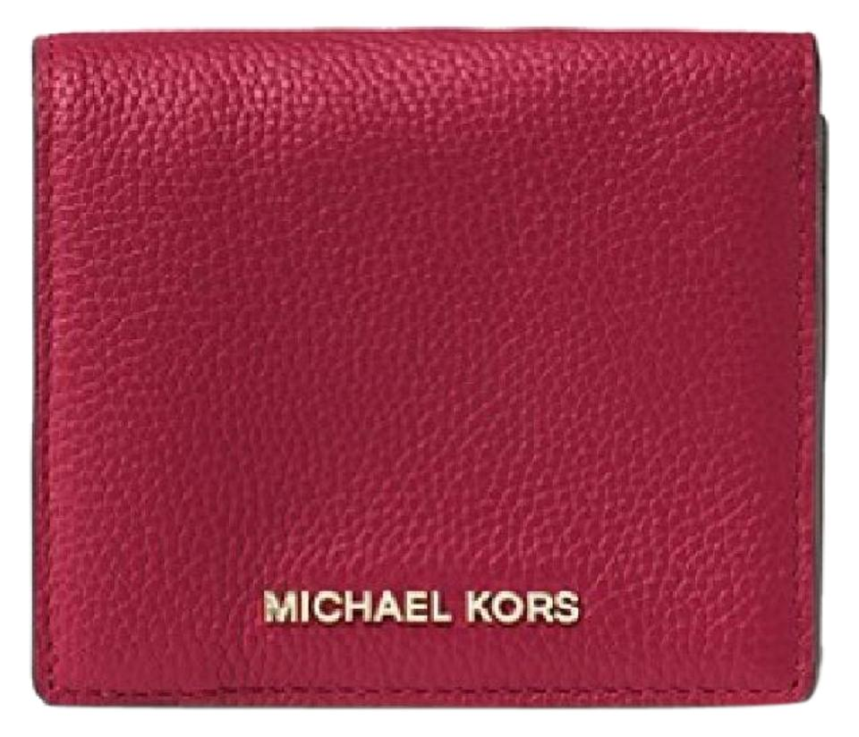f7d61b8951b6 Michael Kors Cherry Mercer Leather Card Case Wallet - Tradesy