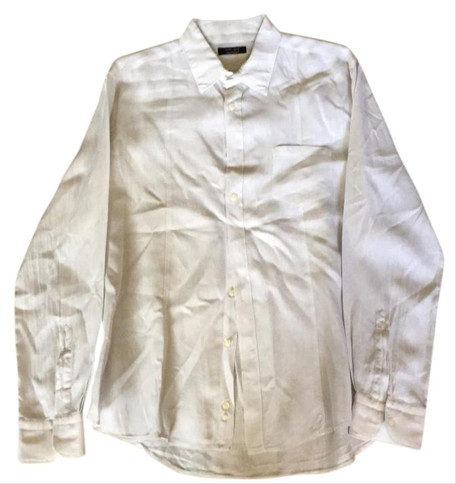 Relatively Zara Off White Men's Linen Shirt Button-down Top Size OS (one size  SU05