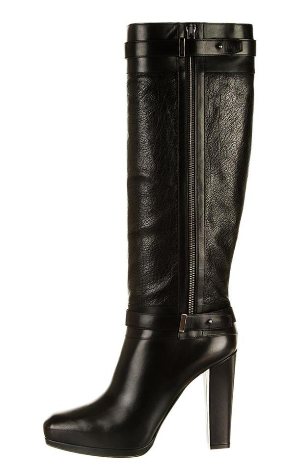 52e22d532a4 Belstaff Black Runway Gainsborough Leather Knee-high Boots Booties. Size  US  ...