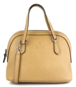 Gucci Cross Body Dome Satchel in Whiskey Tan