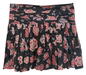 Isabel Marant Silk Blend Mini Skirt Blue