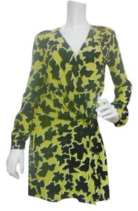 Diane von Furstenberg short dress Yellow /Black on Tradesy