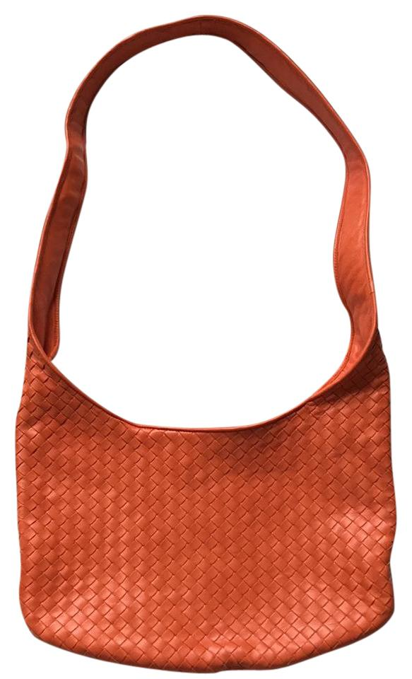 6f2d729e2383 Bottega Veneta Woven Crossbody  Shoulder Tangerine Leather Cross ...