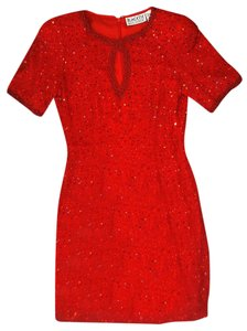 Oleg Cassini Vintage Beaded Dress