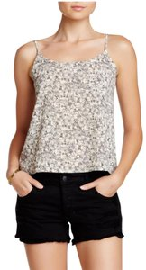 Wild Pearl Camisole Flowers Floral Shell Nordstrom Top Off-white and black