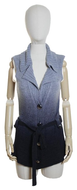 Item - Gray Ombre Tunic Knit Sweater Cardigan Size 12 (L)