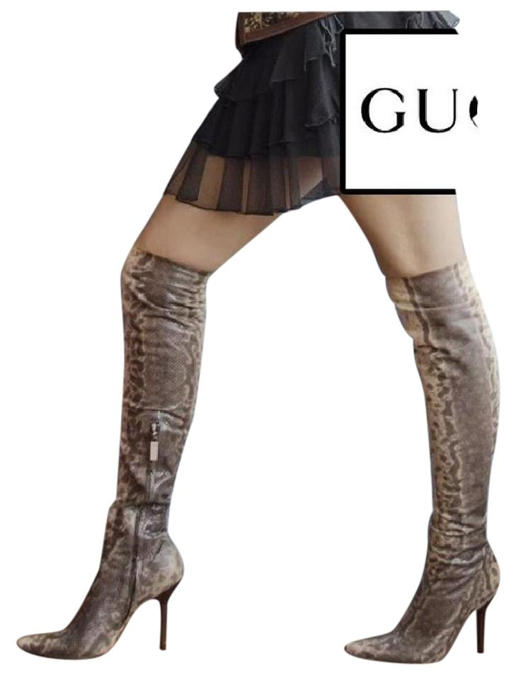 f9899b3b0a2 Gucci Beige Tom Ford For Over Knee Snake Boots Booties. Size  US 10 ...