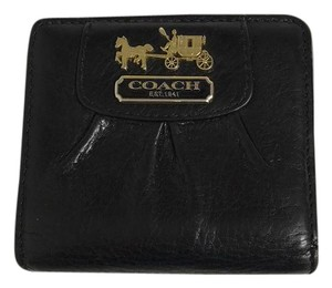 Coach Compact Tumbled Leather Bifold Wallet