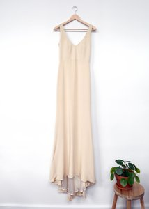 Rebecca Schoneveld Cream 4-ply Silk Crepe Parker Gown: New Feminine Wedding Dress Size 2 (XS)