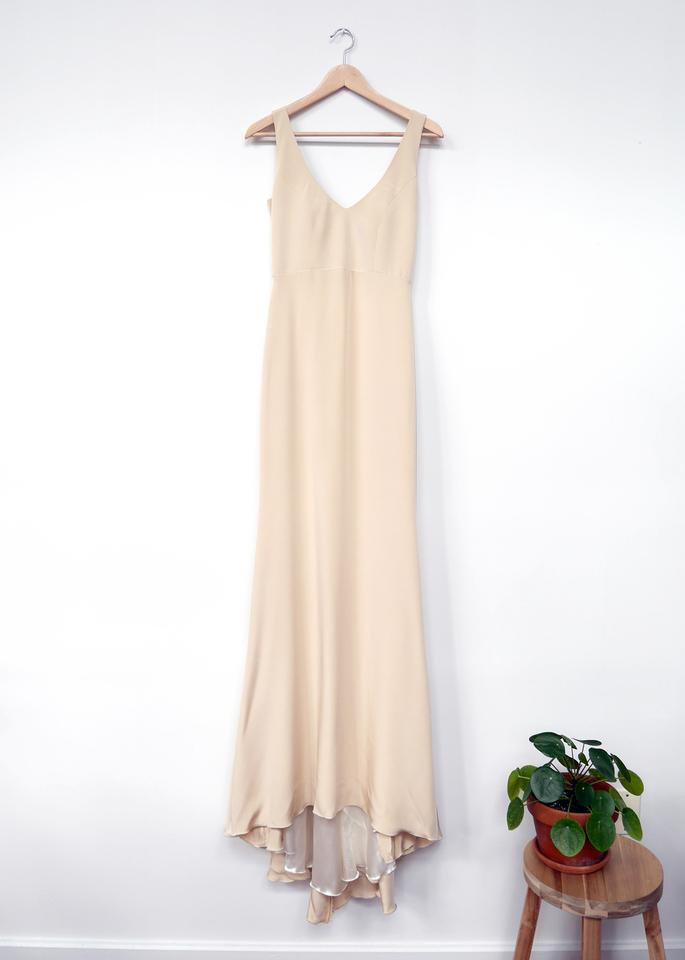 Rebecca Schoneveld Cream 4-ply Silk Crepe Parker Gown: New Feminine ...