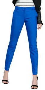 Express Work Office Slim Stretch Trouser Pants Blue