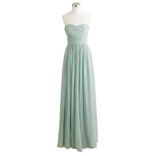 J.Crew Dusty Shale Arabelle In Used Bridesmaid/Mob Dress Size 2 (XS) Image 1