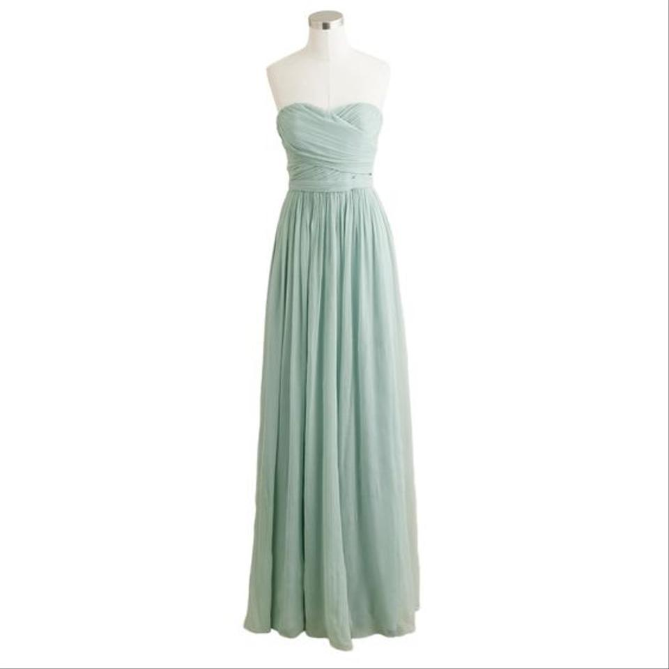 J.Crew Dusty Shale Arabelle In Used Bridesmaid/Mob Dress Size 2 (XS ...