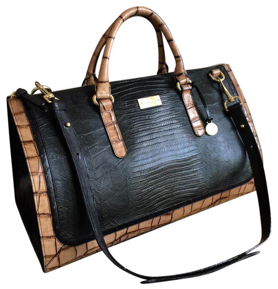 b807ddce801e Brahmin Rare Black Lizard Two- Tone Anywhere Carry-on Leather ...