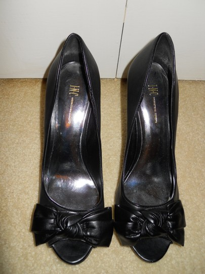 INC International Concepts Leather Mbc black Pumps Image 1
