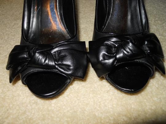INC International Concepts Leather Mbc black Pumps Image 2