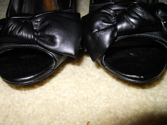 INC International Concepts Leather Mbc black Pumps Image 6