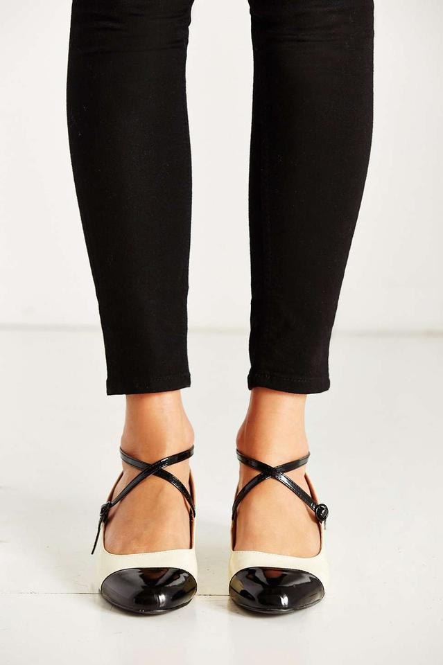 Urban Outfitters Black White Color Block Mary Jane Flats Size US 7 ...
