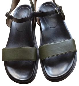 Marni Dark green with black leather. Sandals