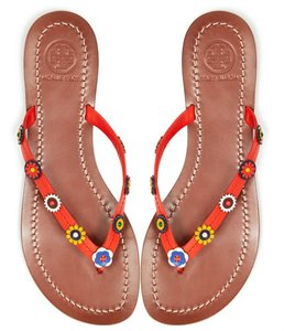 da6a7e63b Red Tory Burch Sandals - Up to 90% off at Tradesy