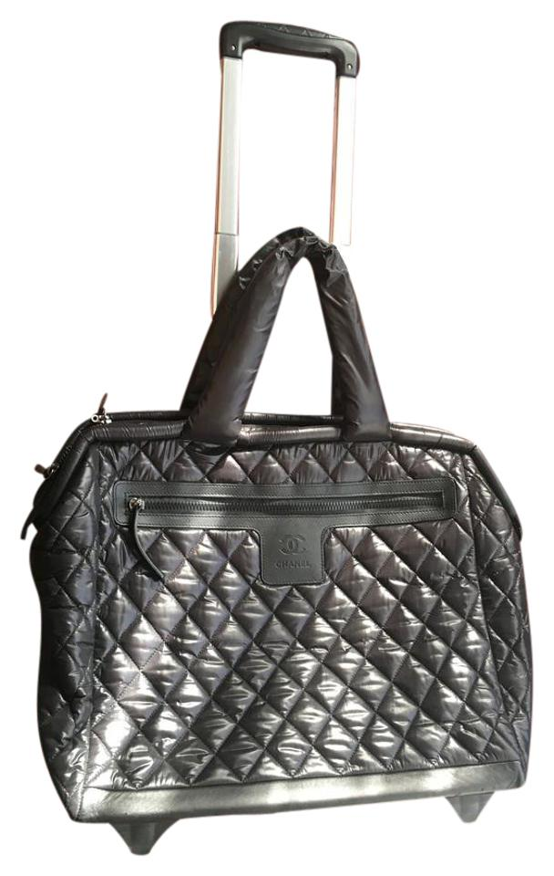 79dcde575b06 Chanel Cocoon Coco Trolley Rolling Case Black Nylon Weekend/Travel Bag