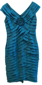Adrianna Papell Tiered V-neck Dress