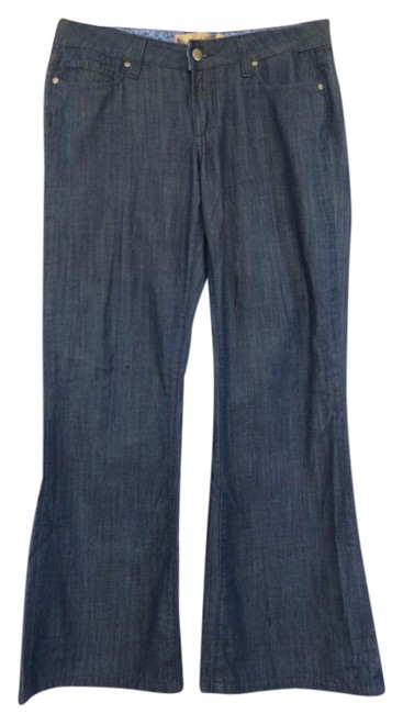 Item - Blue Dark Rinse Bently Flare Leg Jeans Size 27 (4, S)