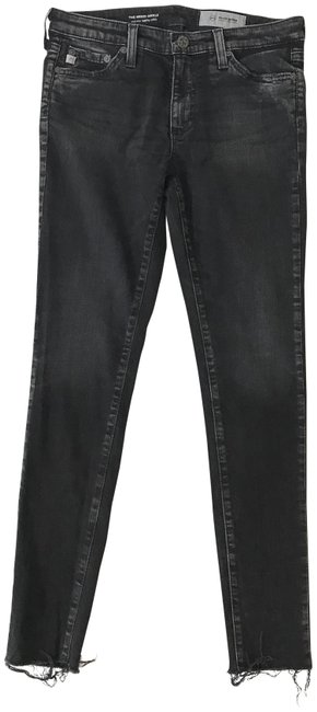 Item - Faded Black Distressed The Middi Ankle Skinny Jeans Size 27 (4, S)
