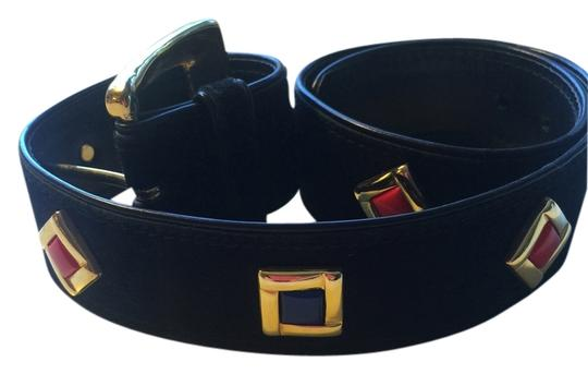 Preload https://item3.tradesy.com/images/escada-black-with-red-and-blue-enamel-and-gold-suede-toned-accents-32-12-x-1-34-belt-2162092-0-3.jpg?width=440&height=440