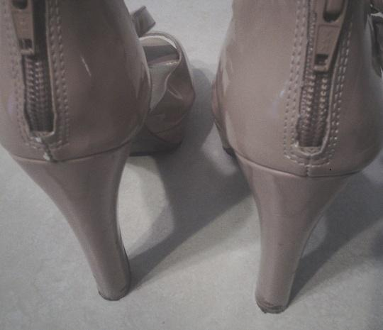Jessica Simpson Foux Leather Like New Free Shipping Nude Sandals