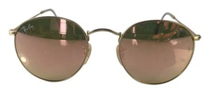 d5dc1b06bb Ray-Ban Pink Round Copper Flash Gold Frame Rb3447 112 Z2 Sunglasses ...