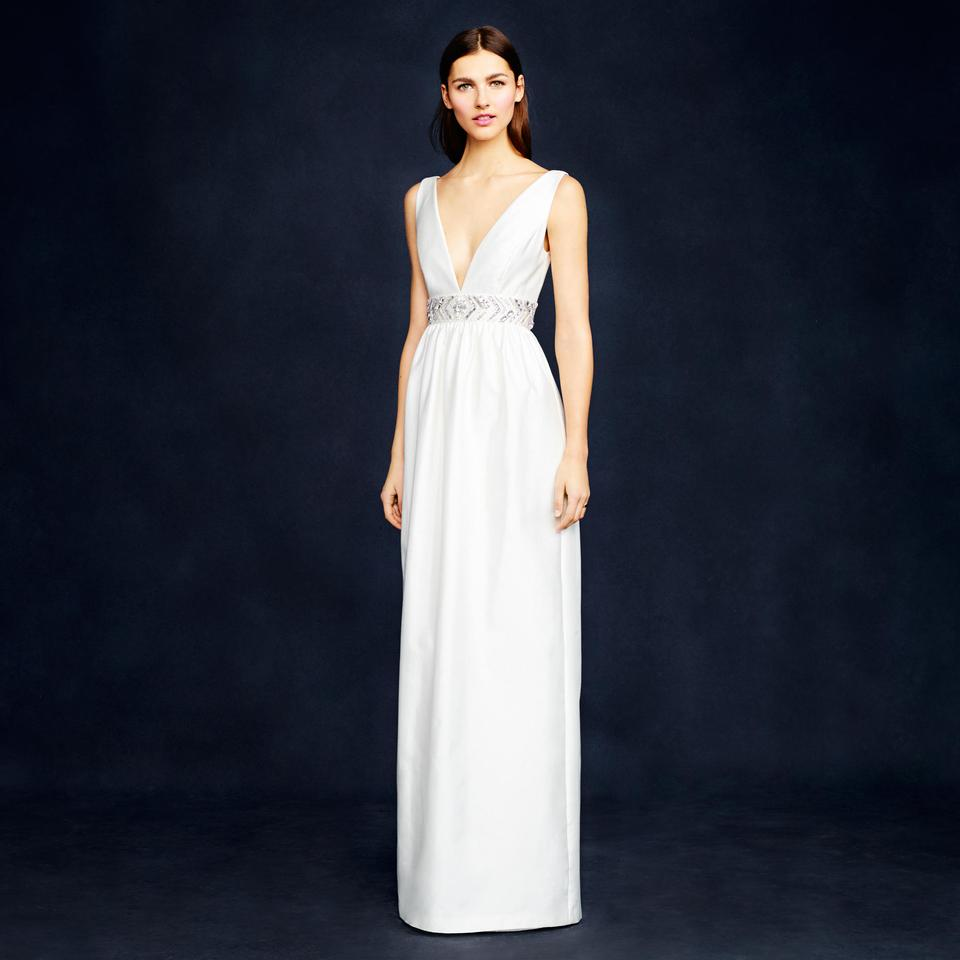 J.Crew Ivory Silk and Cotton Twill Annabelle Modern Wedding Dress ...