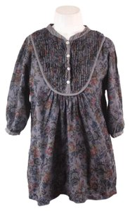 Matta Floral Black Cotton Tunic