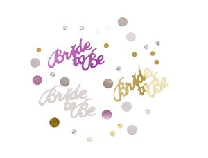 Colorful Bride To Be Confetti Anniversary Party Table Deco Wedding Favors