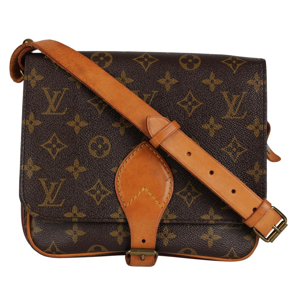 6c61d022ed7 Louis Vuitton Mm M51253 Monogram 7284 Brown Canvas Cross Body Bag ...