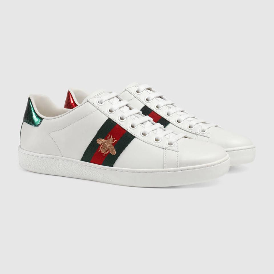 c93de6ecd Gucci White - Ace Embroidered Sneakers Sneakers Size EU 41 (Approx ...
